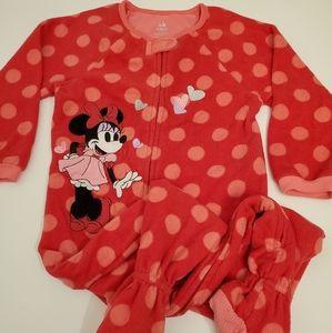 Disney Minnie Mouse Polka Dot Footie Pajamas